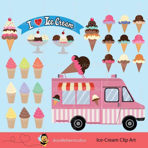 Icecream Cone Cupcake Wallpapers Mobile Pics: Ice-Cream Clipart, Ice-Cream Truck Clipart, Digital Ice