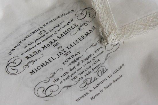 Rena michael 39 s semi formal handkerchief wedding for Michaels crafts wedding invitations