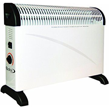 Babz 2KW 2000W Convector Heater with Thermostat in White (Convection Heater)