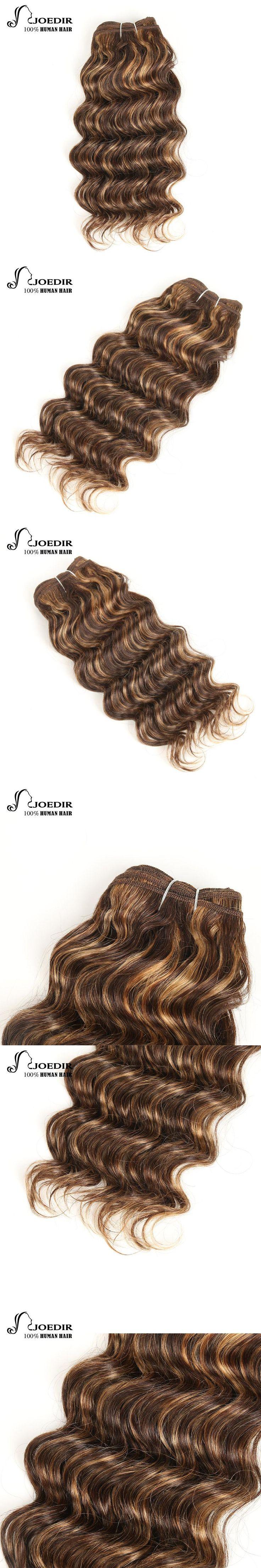 Joedir Pre-Colored Brazilian Deep Wave Hair 100% Human Hair Bundles Remy Hair Weave Blonde Color 27 P4/27 Free Shipping