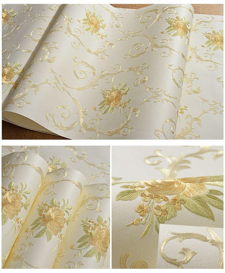 Romantique Floral Papier Peint pour Les Murs Non Tissé Fleur Mur Rouleau de Papier 3D Papier Peint Rustique Chambre Fonds D'écran papier contact dans Fonds d'écran de Amélioration de l'habitat sur AliExpress.com | Alibaba Group