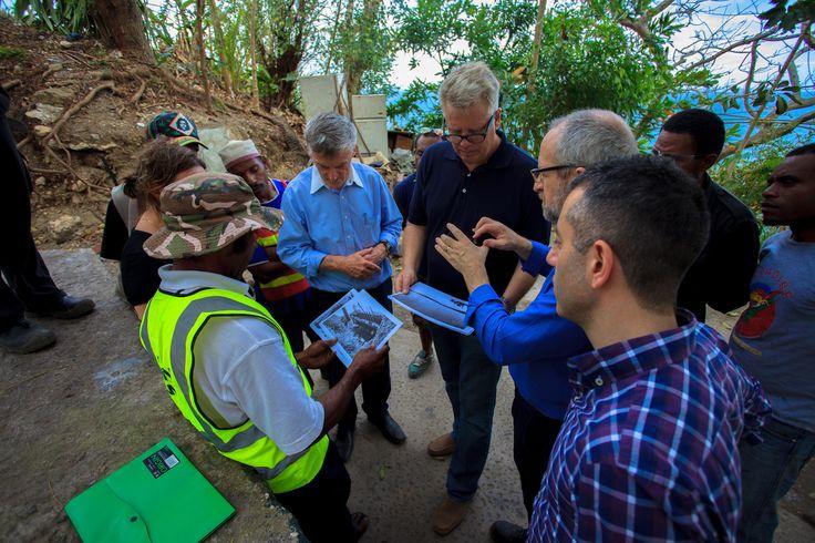Paga Hill Development Company's CEO Gudmundur 'Gummi' Fridriksson, Architect Paul Gallagher & COO George Hallit on site at Paga Hill's World War II Relics