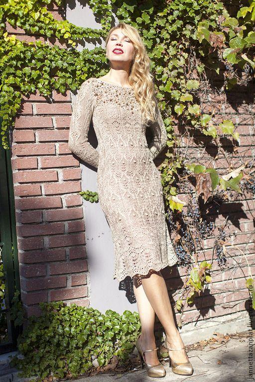 """платье """"Барокко"""" - бежевый,однотонный,авторская ручная работа,авторское платье"""