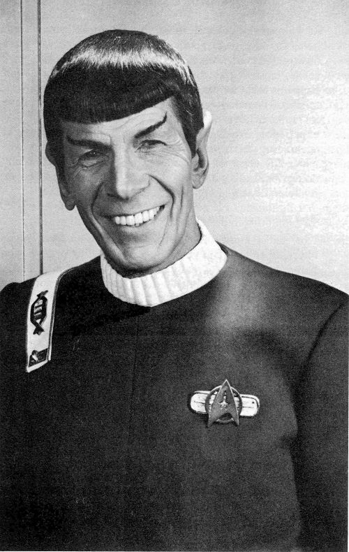 No... Never do trust a smiling Spock... Unless it's for real. Behind the scenes sweetness. I have a serious problem guys...