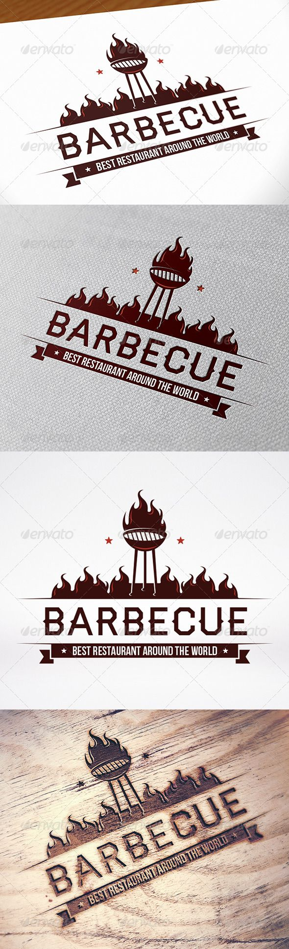 EPS BBQ Logo Template  • Only available here ➝ http://graphicriver.net/item/bbq-logo-template/8612136?ref=pxcr