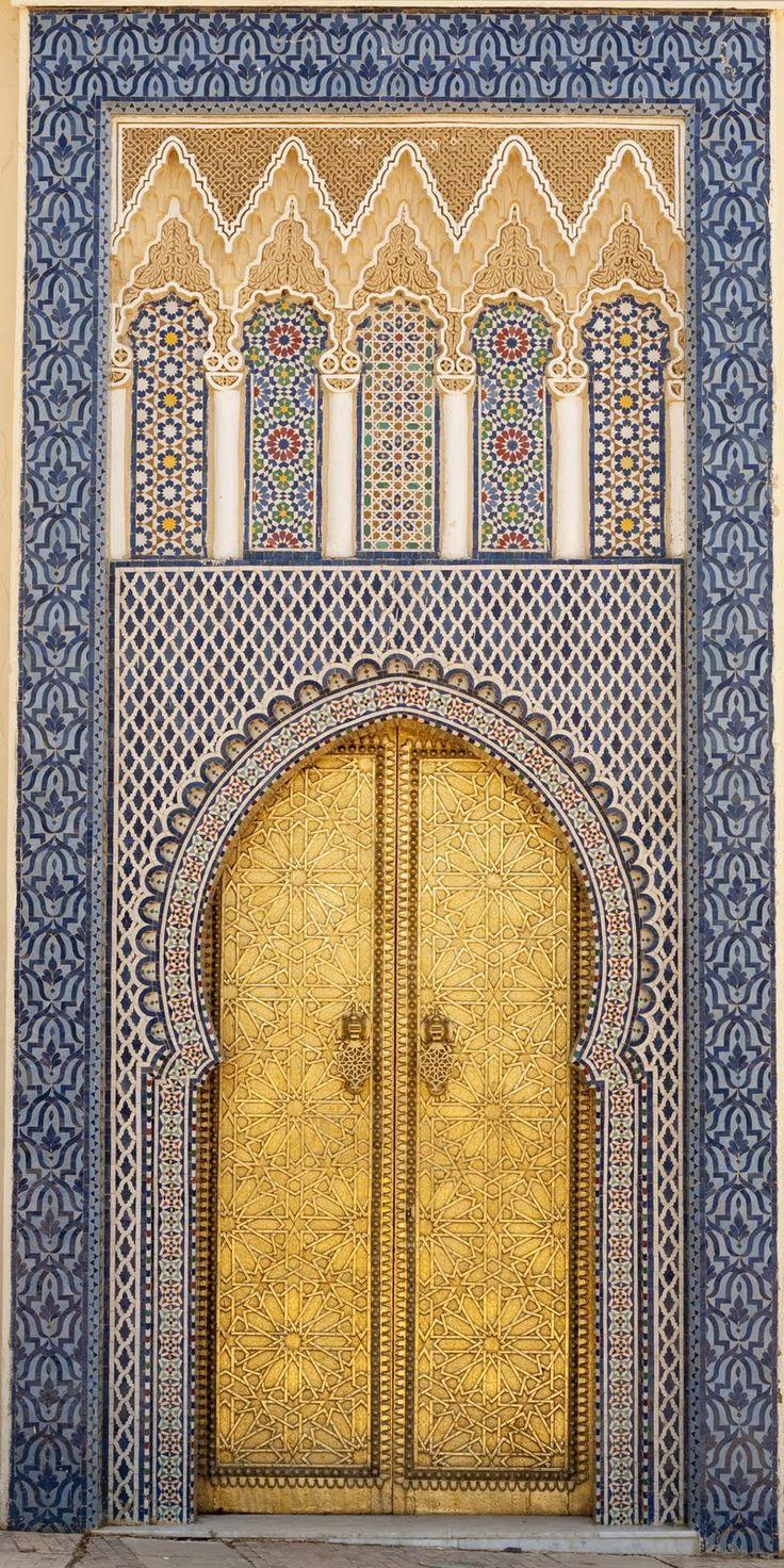 14th century door, King's Palace. Fez Medina, Morocco