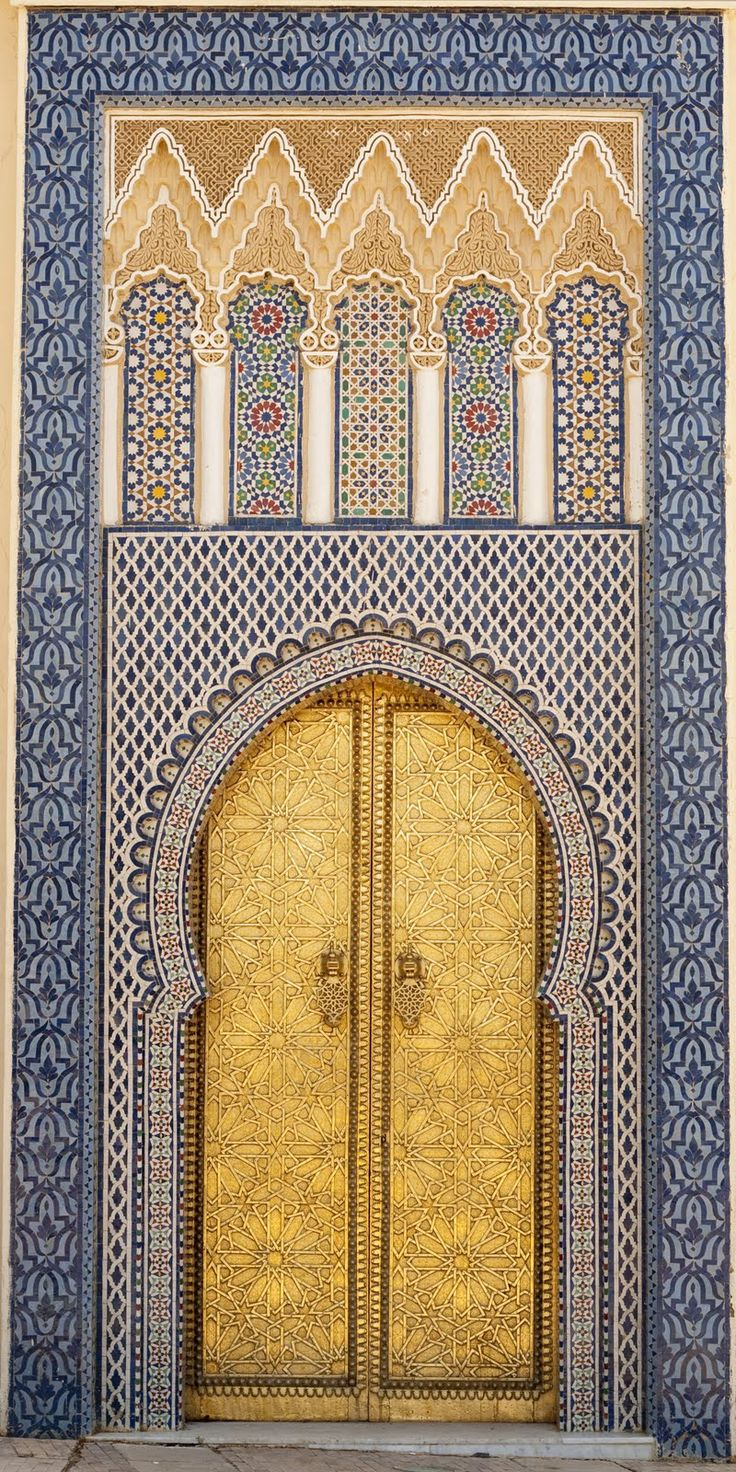 Africa | 14th century door to one of the King's palaces.  Fez Medina, Morocco | © Brooke Erin