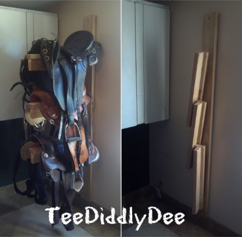 How To Build A Sturdy/Collapsible Saddle Rack-only $15 to make, took an hour to build, strong for those heavy saddles, and collapses for storage space!!! SIMPLE TO MAKE!!!