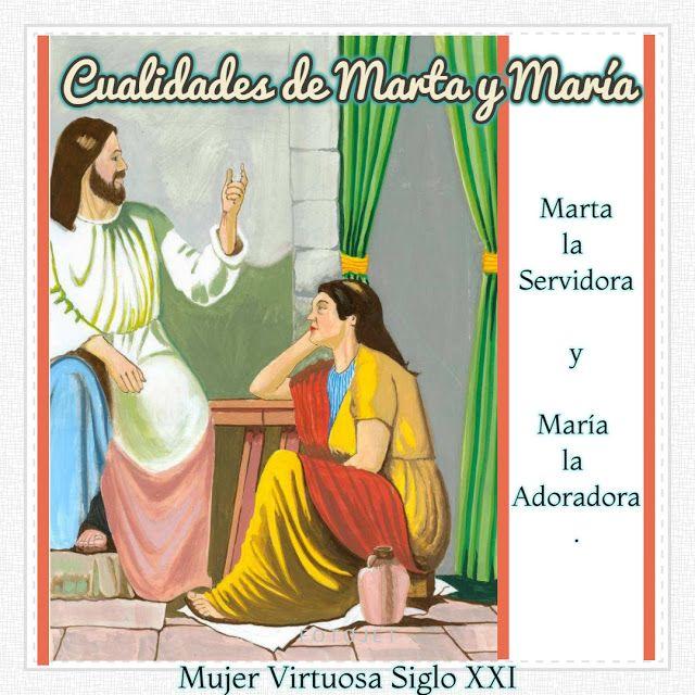 Cualidades De Marta Y Maria Las Hermanas De Betania Bible Comic
