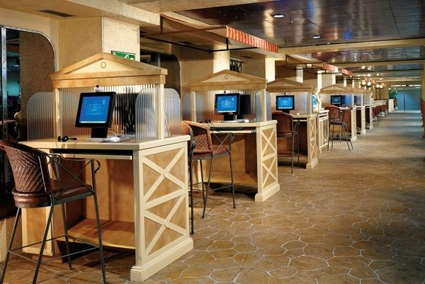 Internet Cafe on the Carnival Fantasy.