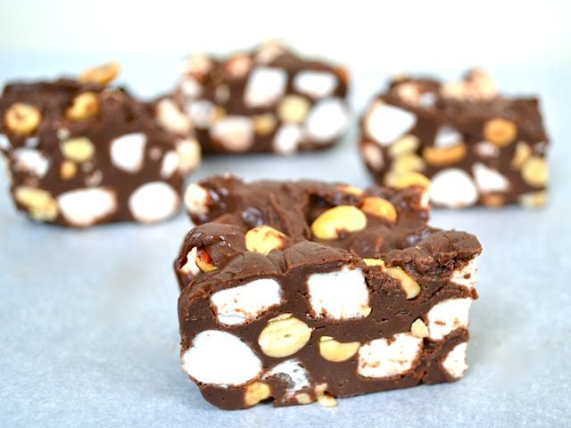 Rocky Road Fudge from Budget Bytes (the lovely lady behind this awesome site looks so much like Mena Suvari!)