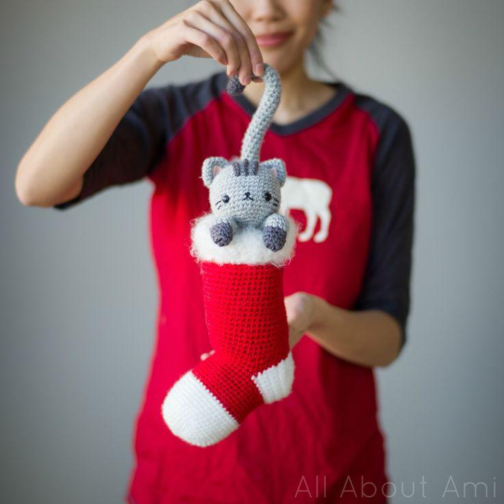 Chester Stocking Kitten. FREE Crochet pattern, Thanks so xox ☆ ★ https://uk.pinterest.com/peacefuldoves/
