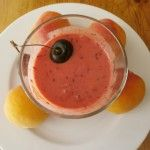 Healthy #smoothie with #apricot #black #cherrywith #organic #thyme #honey | Cookingly Yours