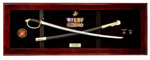 USMC NCO Sword Display Case, Sword Cases, Marine Sword frame
