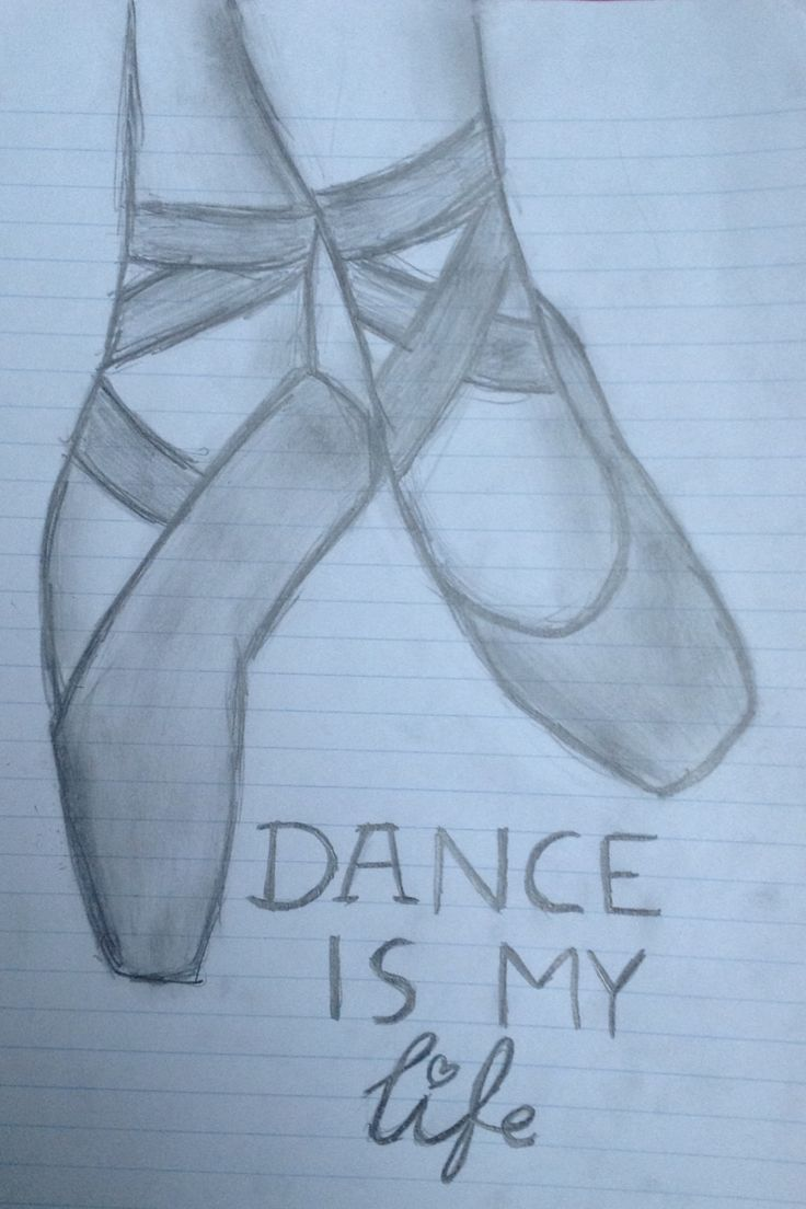ballet shoes drawing easy - photo #16