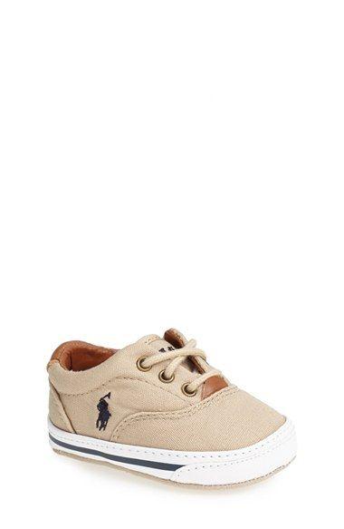 Ralph Lauren Layette 'Vaughn' Crib Shoe (Baby) | Nordstrom