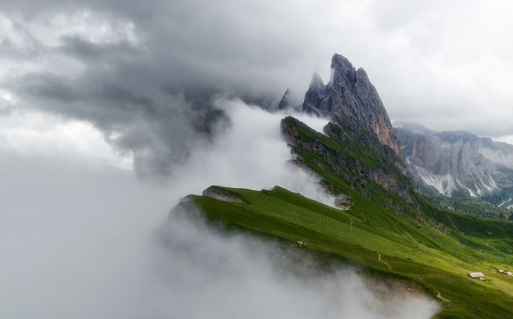 Seceda Dağı, Kuzey İtalya, Stepan Zubkov. Her gün yeni görsel