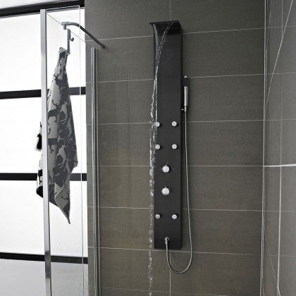 Mix Waterfall Shower Panel with 6 Body Jets #CILserenity