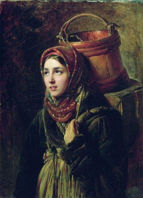 Herring Dish - Konstantin Makovsky  1867