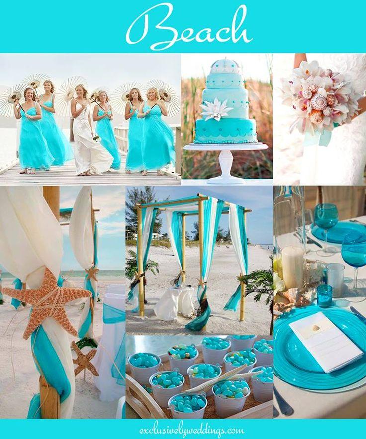 Beach Wedding in Turquoise | #exclusivelyweddings