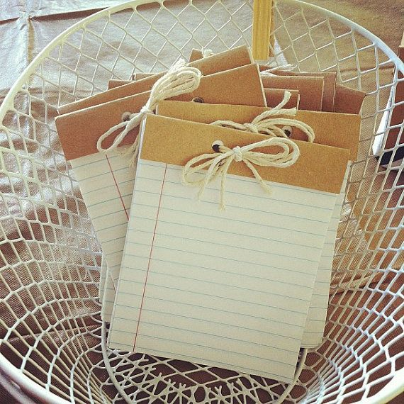 Mini Handmade Recycled Jotter Notepad with by dipdadipdesign, $5.00