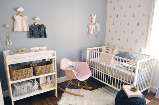 Décoration moderne chambre fille bébé