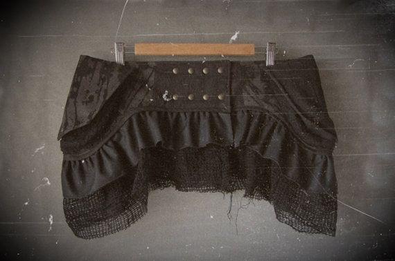 Encargo - falda de textura - limitada edición - falda Tribal - Festival falda - bolsa Hip - abrigo falda - hadas - Pixie - gitana - Steampunk