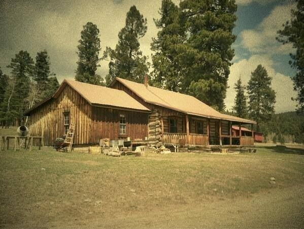 Walt Longmire's Log Cabin #Longmire. Love it inside and out! And the view all around it!