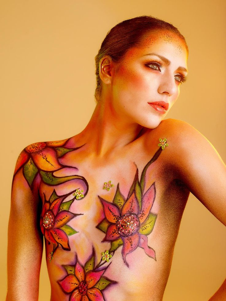 Bodypaint with make up products by  Make-up Studio