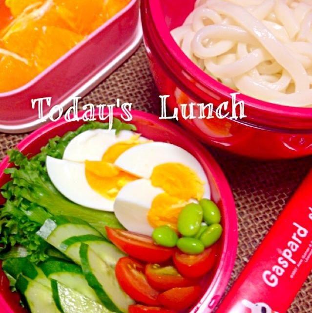 今日はさっぱり、サラダうどん弁当! - 77件のもぐもぐ - サラダうどん( ´ ▽ ` )ノ❤ by miwamiwa1207
