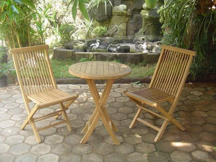 Juego de 2 sillas y mesa round http www for Juego de mesa y sillas de jardin