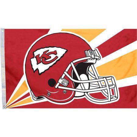 Kansas Chiefs Helmet 3' x 5' Flag, Multicolor