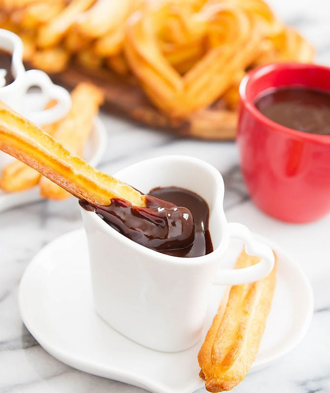 Baked Churros with Chocolate | Kirbie's Cravings | A San Diego food & travel blog