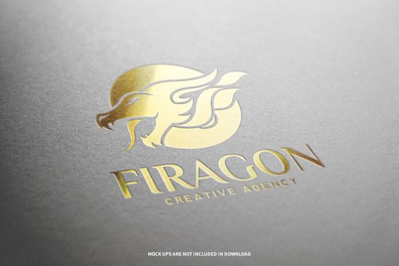 Fire Dragon Logo Template by LiveAtTheBBQ on @creativemarket