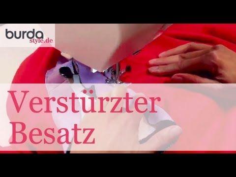 Verstürzter Besatz (runder Halsausschnitt) - YouTube
