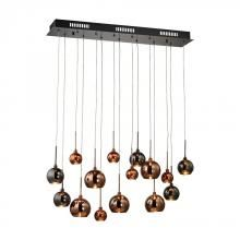 Dimond 1142-011 - Nexion 15 Light Chandelier In Black Chrome - Large