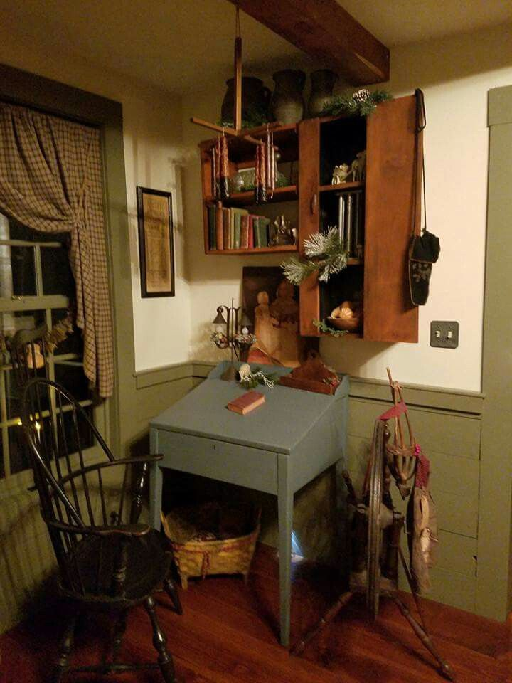 Primitive Desk + Windsor