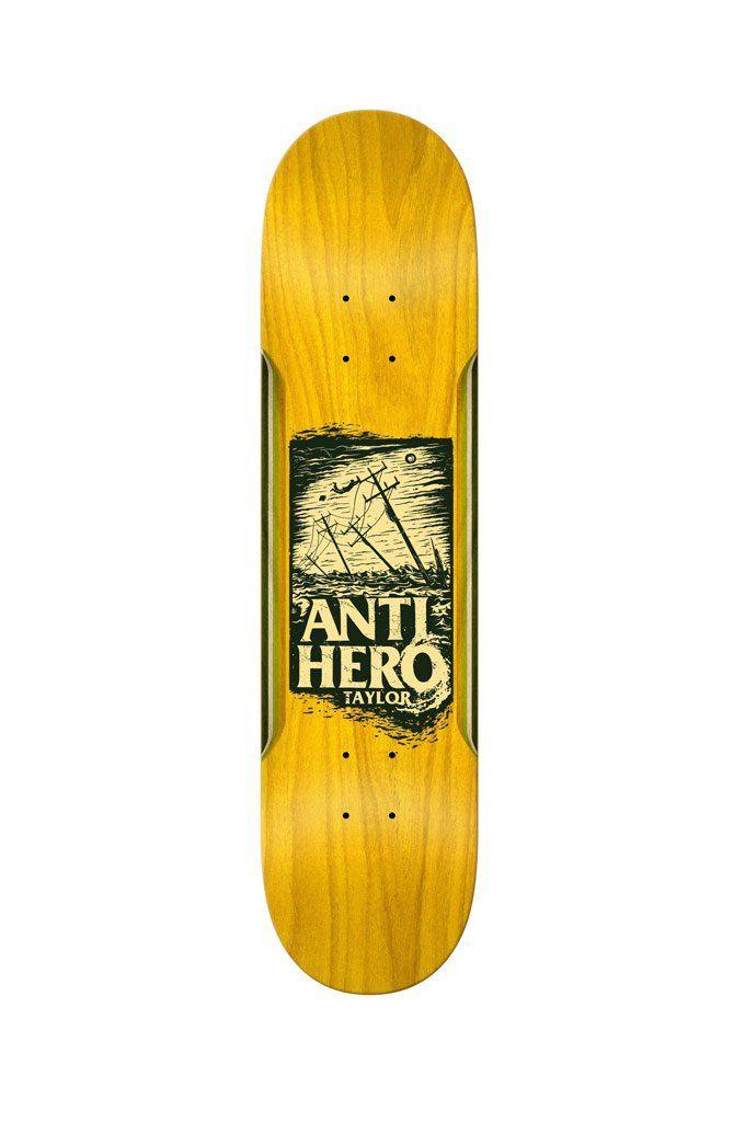 The Taylor Hurricane 8 4 Deck From Anti Hero Skateboards Skateboarding Skate Building A Deck Diy Deck Deck Design