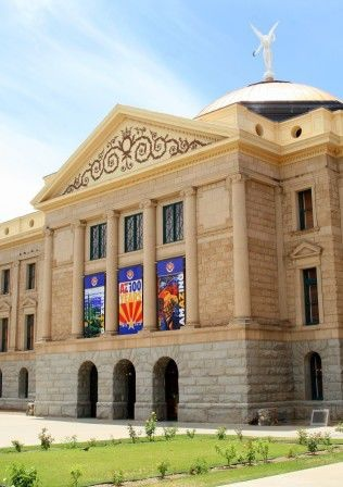 Arizona Capitol Museum:    The Arizona Capitol Museum showcases four floors of exhibits that link the people to the government of Arizona. You will discover and experience how the government of Arizona became a territory and transformed into a state. The capitol museum has a community outreach program that spreads education about Arizona and its government.