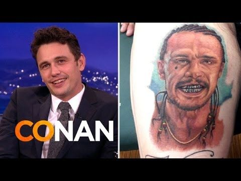 ▶ James Franco Is Freaked Out By Fan Tattoos - YouTube