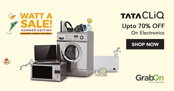 "What A Sale? Let #TataCLiQ show you ""Watt A Sale""!  #Electronic #summer #sale #tech #Summer2017 #Discounts"