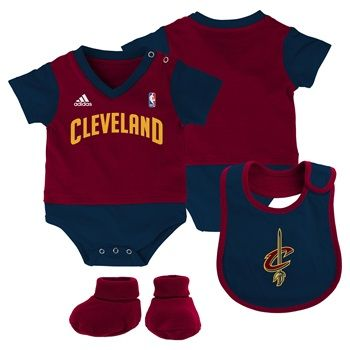 #Cavs Lil Jersey Creeper Set: Onesie, bib and booties are included!
