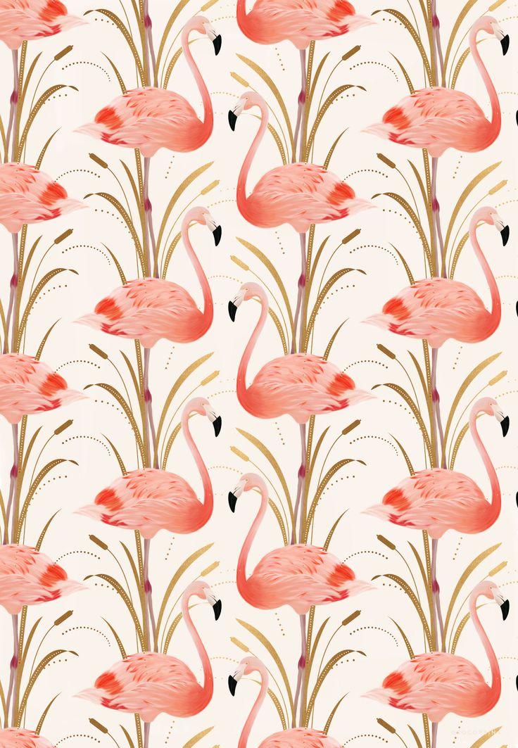 Flamingo pattern Illustration by Cocorrina