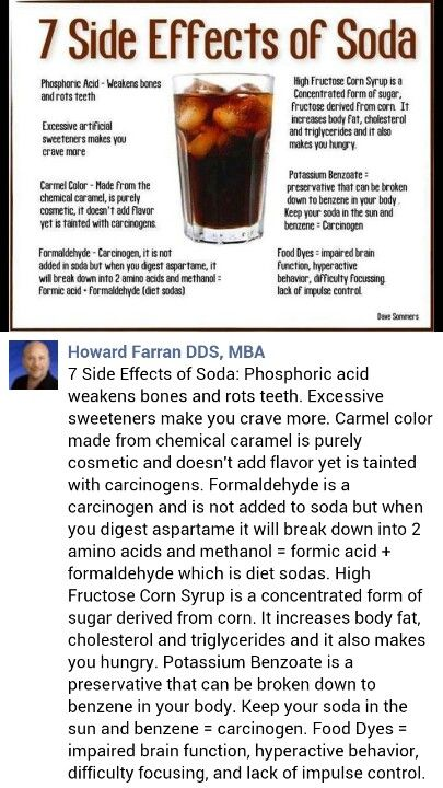 the effects of soda pop on 15112017  there are two main dental effects of drinking soda: erosion and cavities erosion erosion begins when the acids in soft drinks encounter the tooth enamel.