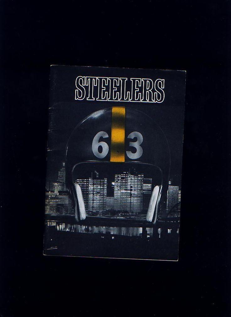 ORIGINAL 1963 PITTSBURGH STEELERS NFL FOOTBALL PRESS TV RADIO MEDIA GUIDE