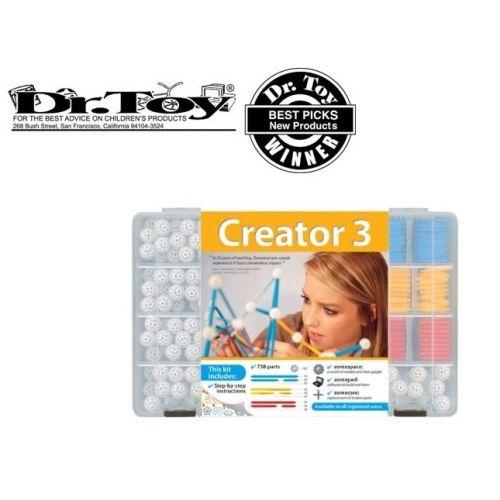 Alkotó 3. kezdőkészlet (Creator 3) tudományos építőjáték - Zometool