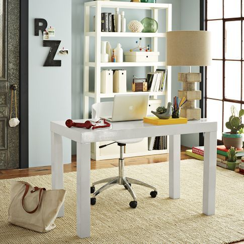 White Parsons Desk I Wanna Save Up To Get This Beauty Curly Have The Orange Parson S Craigslist