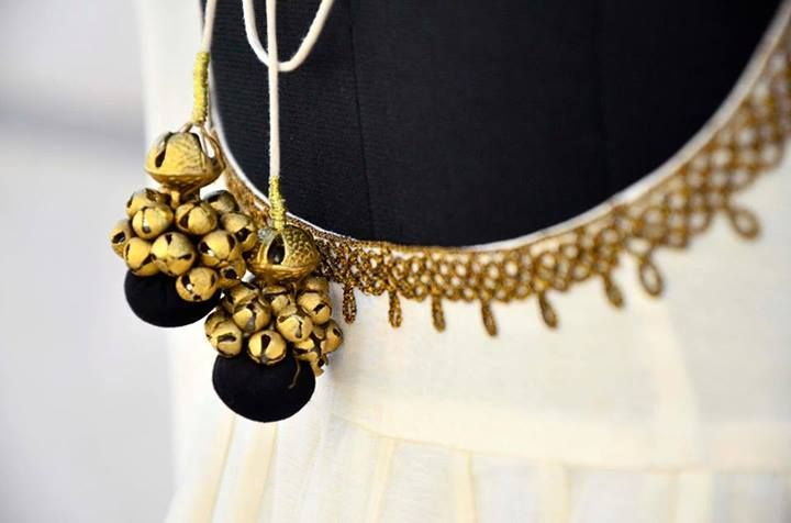 The bells and the neckline on the anarkali