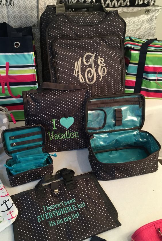 Travel in style with Thirty-One's variety of coordinating products for travel, home and office!