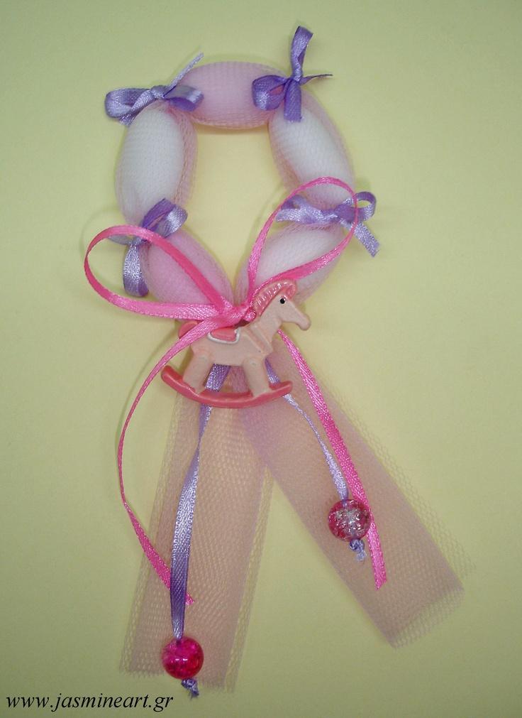 Μπομπονιέρα κουφέτενιο στεφανάκι για κοριτσάκια